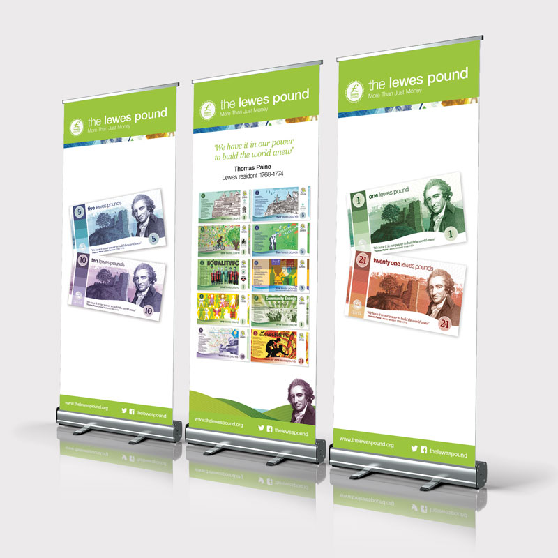 Lewes Pound Exhibition Banners